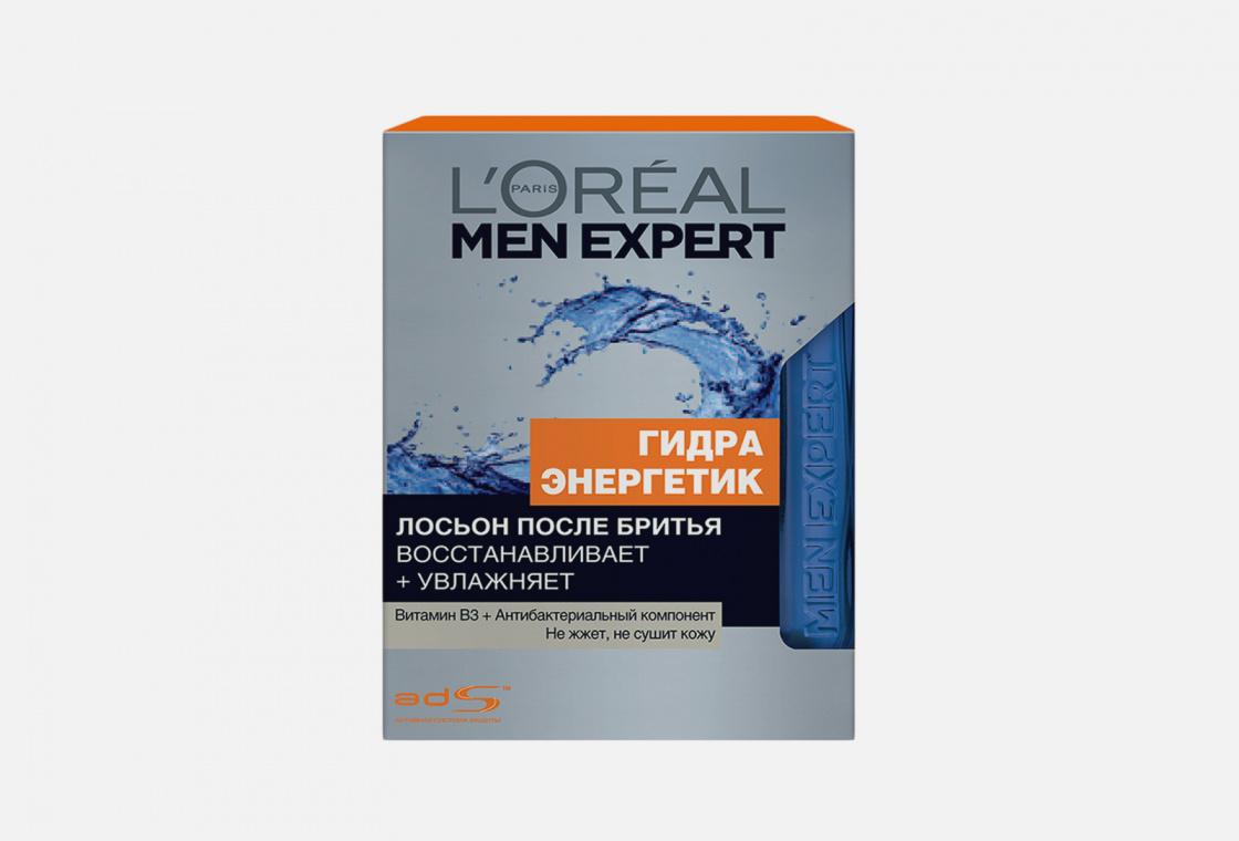 Лосьон после бритья с антибактериальным эффектом, увлажняющий, восстанавливающий L'Oreal Paris Men Expert Hydra Energetic