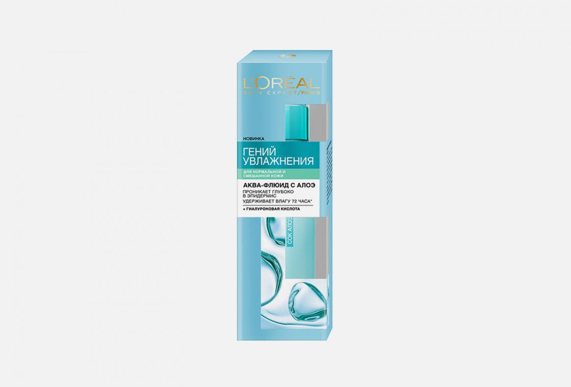 Аква-флюид для лица, для нормальной и смешанной кожи L'Oreal Paris Гений Увлажнения