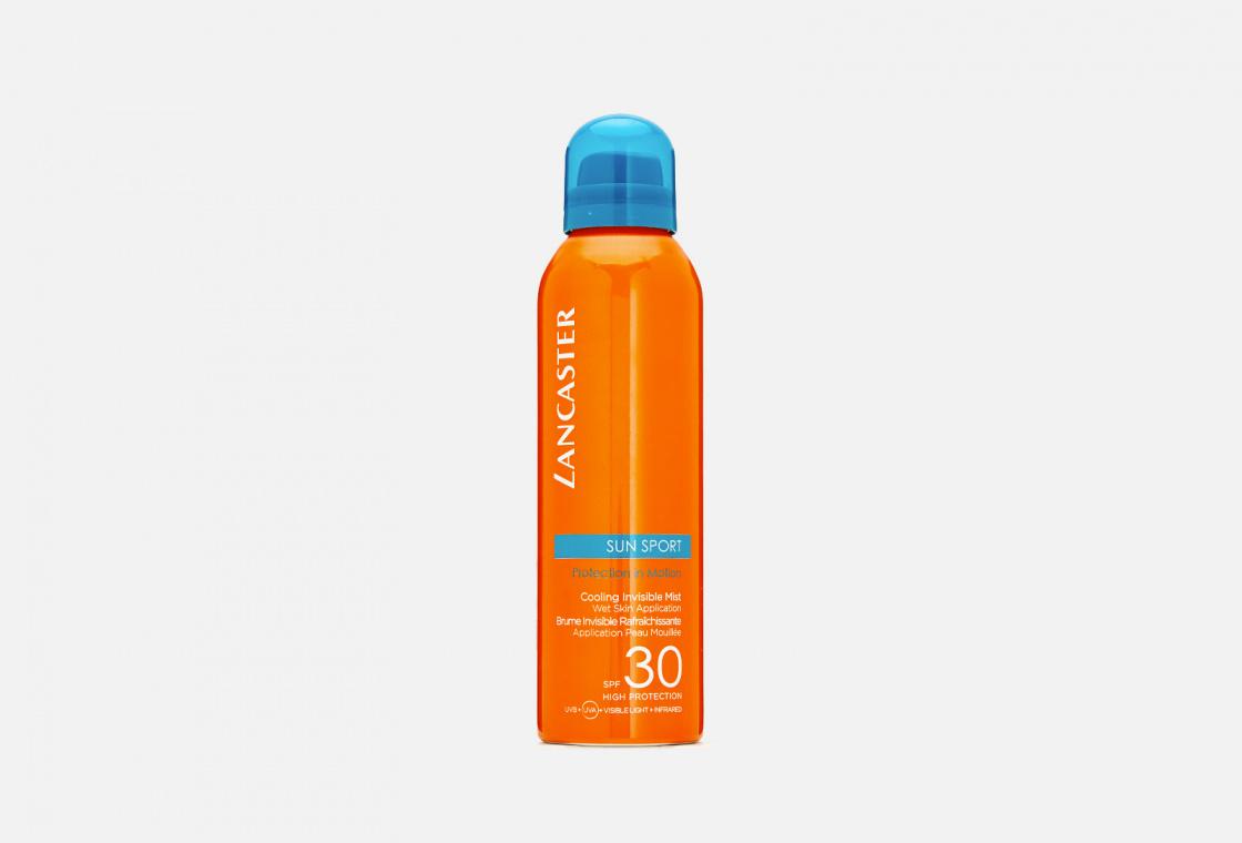 Солнцезащитный спрей с возможным нанесением на влажную кожу SPF30  LANCASTER Sun Sport Cooling Invisible Mist Wet Skin Application