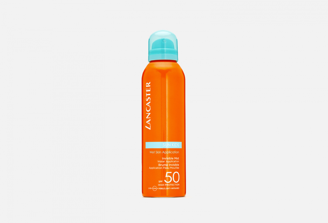 Солнцезащитная дымка для детей с технологией нанесения на влажную кожу SPF50 LANCASTER Sun For Kids Invisible Mist