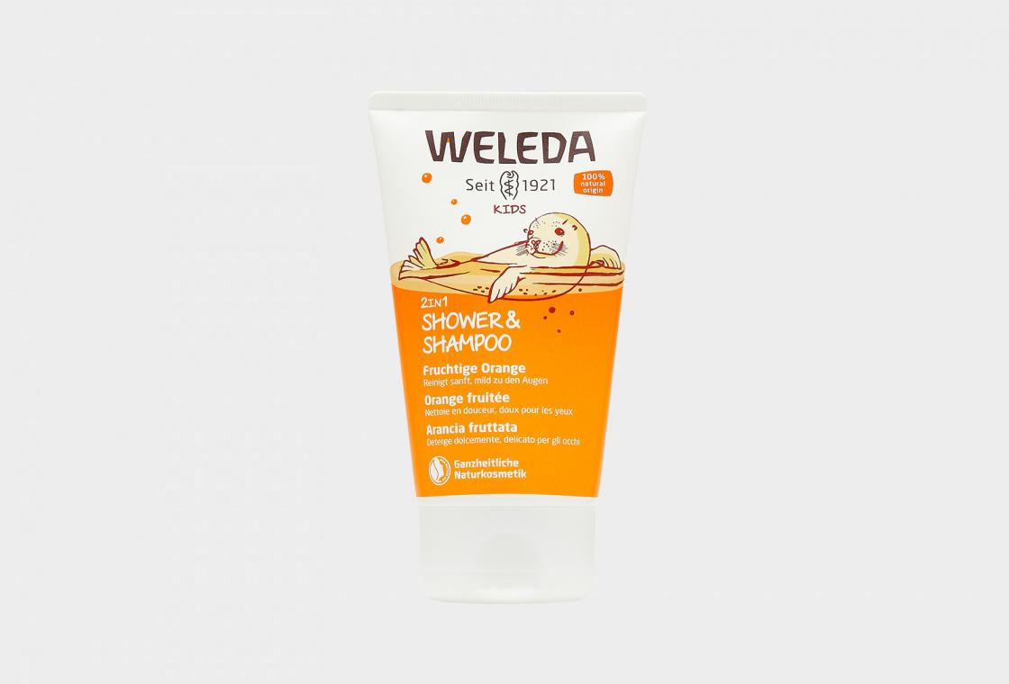 Детский  шампунь -гель для волос и тела  Weleda Kids 2in1 Shampoo & Body Wash Happy Orange
