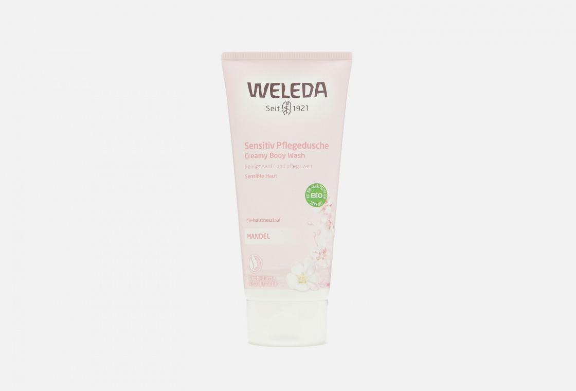 Крем-гель для душа деликатный  Weleda Almond Sensitive Skin Body Wash