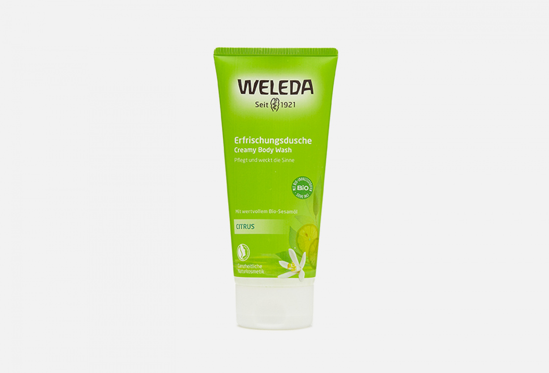 Гель для душа цитрусовый освежающий  Weleda Citrus Creamy Body Wash