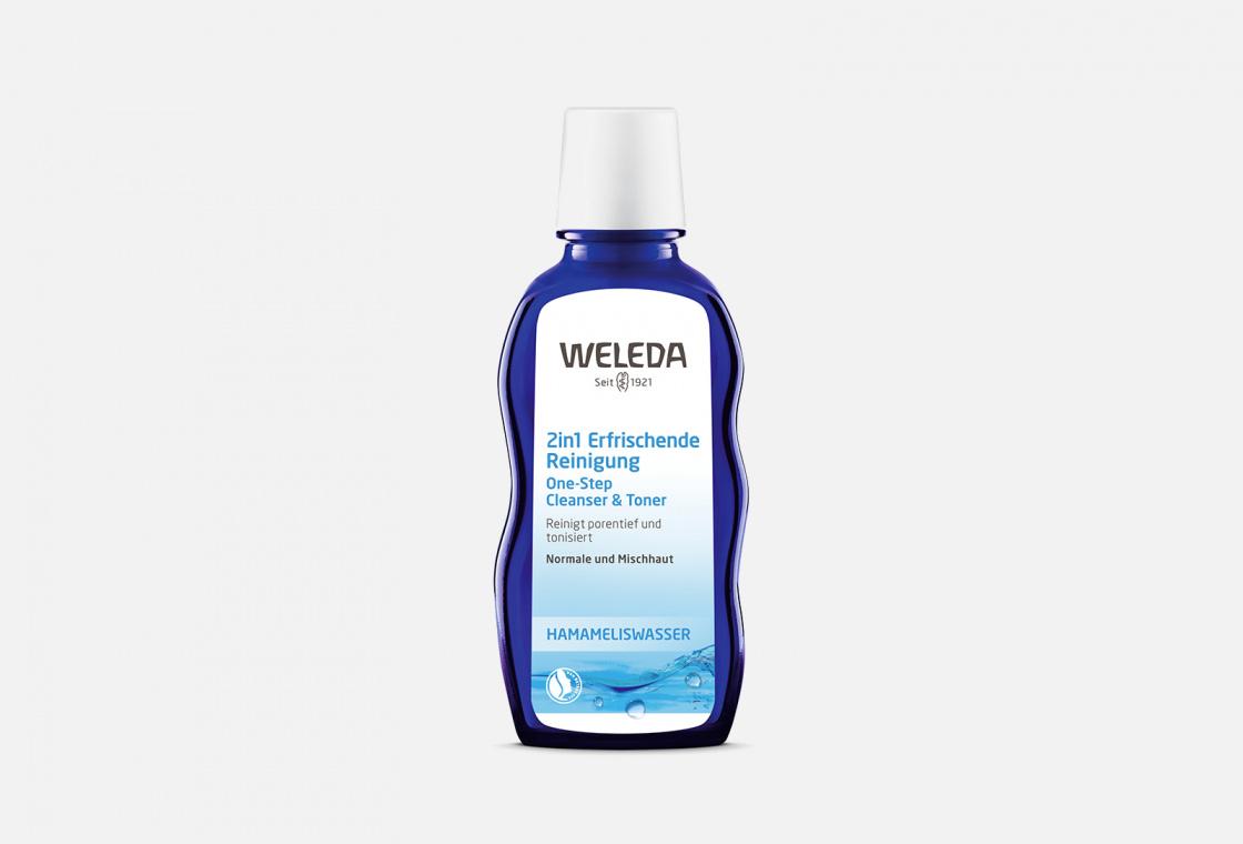 Средство очищающее 2в1 для нормальной и смешанной кожи Weleda One-Step Cleanser & Toner