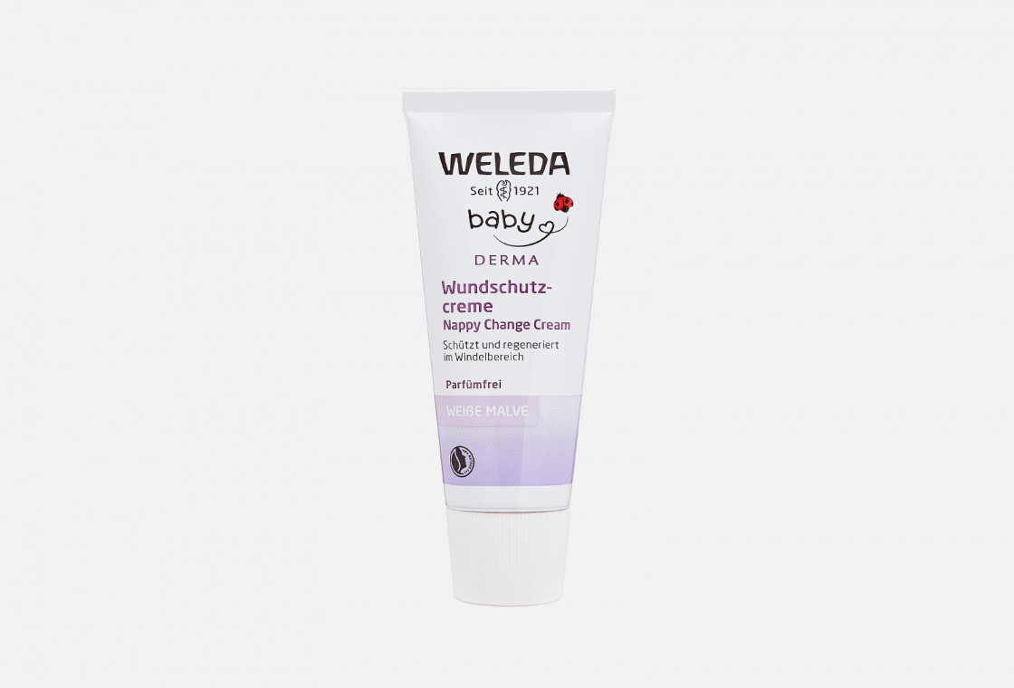 Крем для гиперчувствительной кожи в области пеленания с алтеем Weleda White Mallow Nappy Change Cream