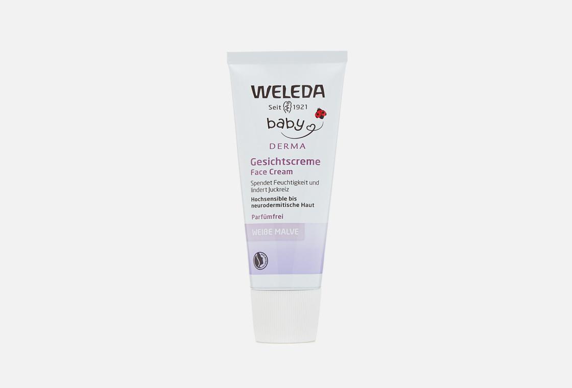 Крем для гиперчувствительной кожи лица с алтеем  Weleda White Mallow Facial Cream