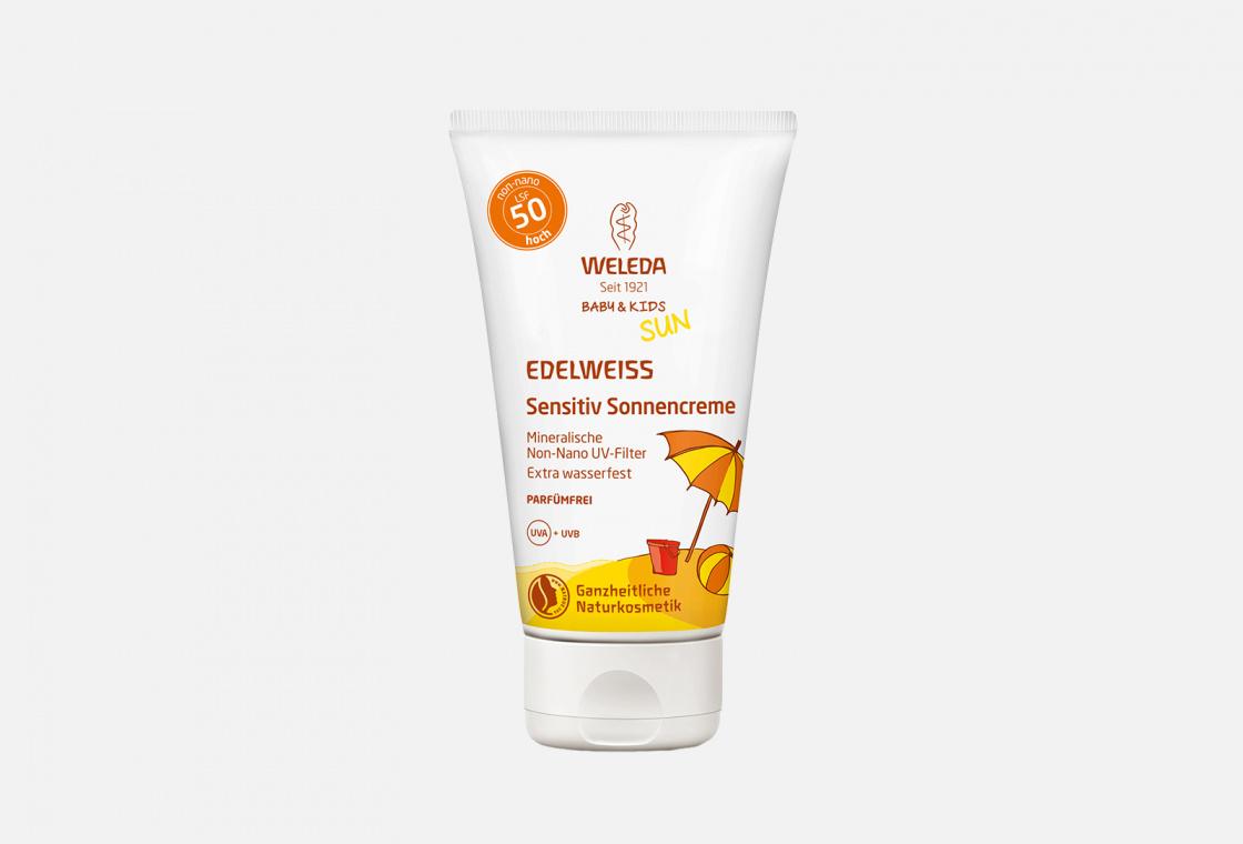 Солнцезащитный крем для младенцев и детей SPF 50 Weleda Baby & Kids Sun Edelweiss