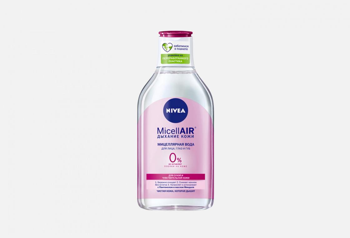 Мицеллярная вода для лица, глаз и губ для сухой и чувствительной кожи NIVEA MicellAIR: Дыхание кожи