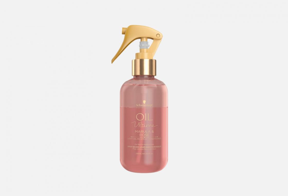 Двухфазный спрей-кондиционер для нормальных и тонких волос  Schwarzkopf Professional Oil Ultime Marula & Rose