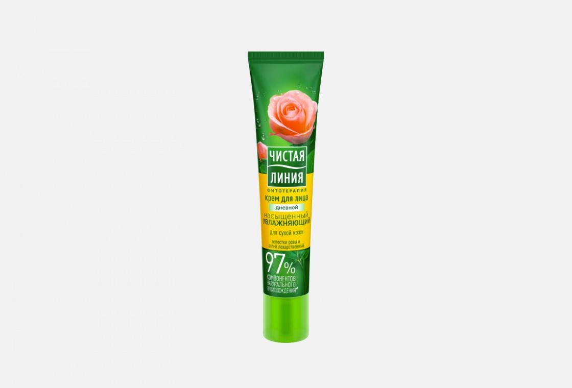 Дневной крем для сухой кожи лица  Чистая Линия Лепестки роз