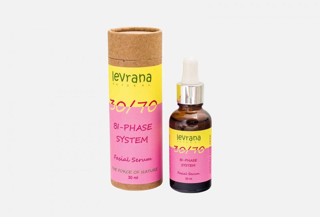 Сыворотка для лица двухфазная 30/70  Levrana C маслом Дамасской розы