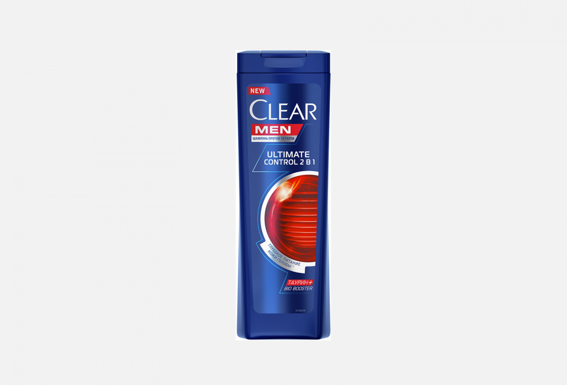 Шампунь и бальзам-ополаскиватель против перхоти для мужчин Clear Ultimate Control 2 в 1