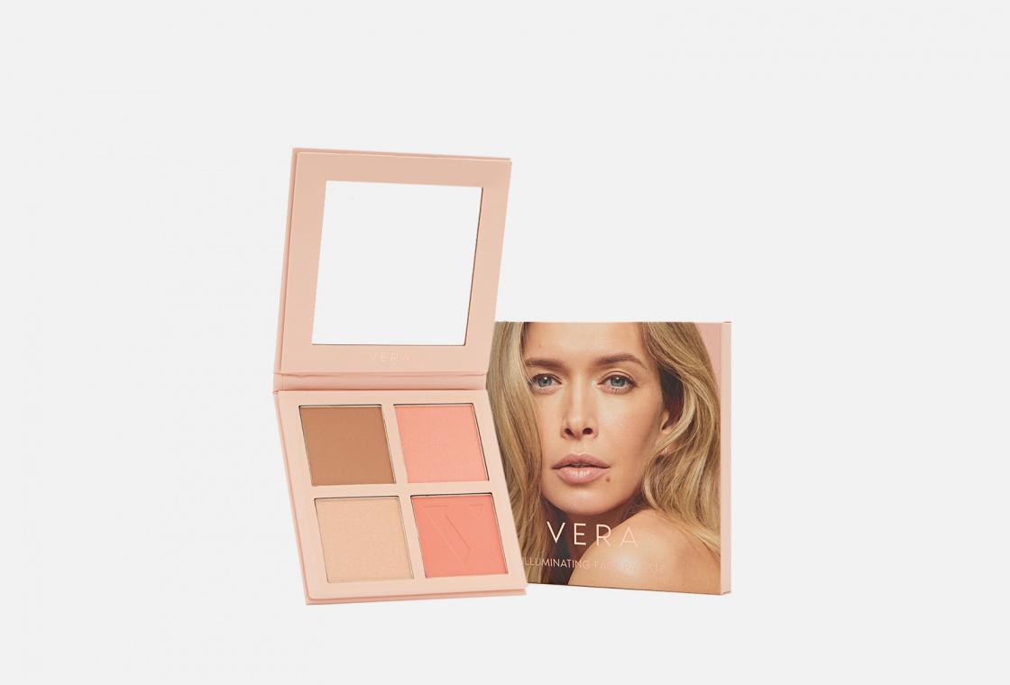 Универсальная палетка для макияжа лица VERA Illuminating face palette