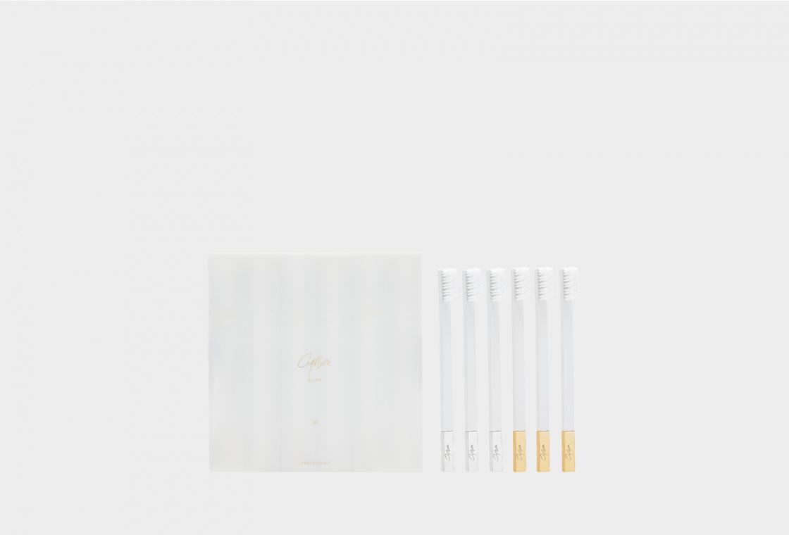 Набор зубных щеток Apriori SLIM  by Apriori White 6-pack