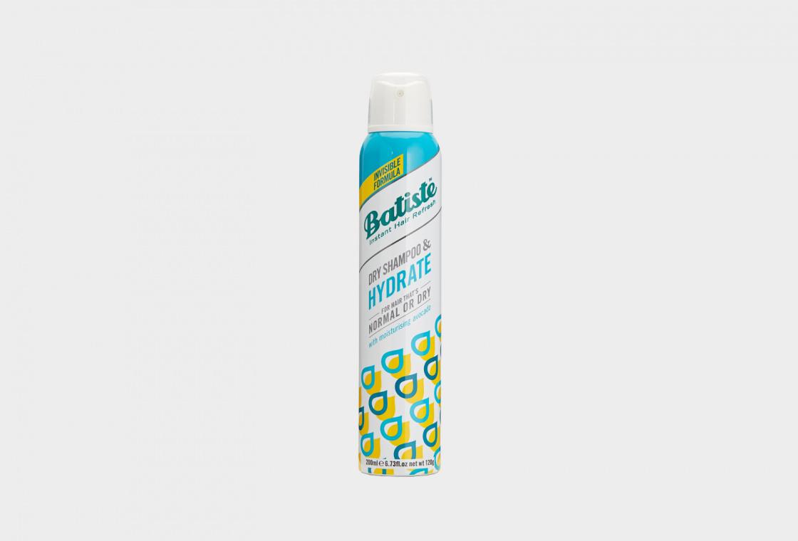 Сухой шампунь для нормальных и сухих волос Batiste HYDRAT