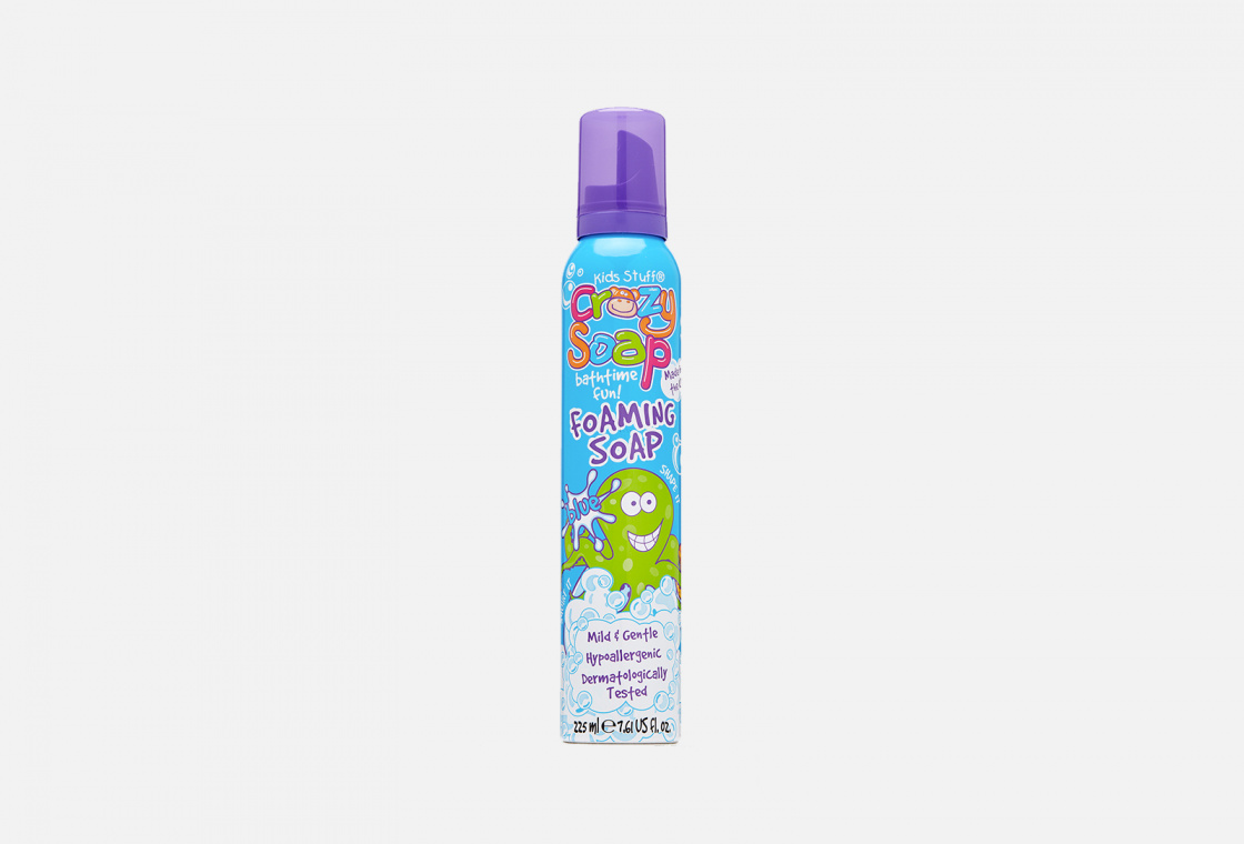 Мусс-пена для купания и детских забав  Kids Stuff Crazy Soap Bathtime Fun Foaming Soap Blue