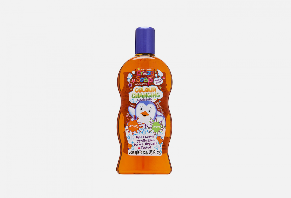 Пена для ванн меняющая цвет  Kids Stuff Crazy Soap Colour Changing Bubble Bath Orange to Green