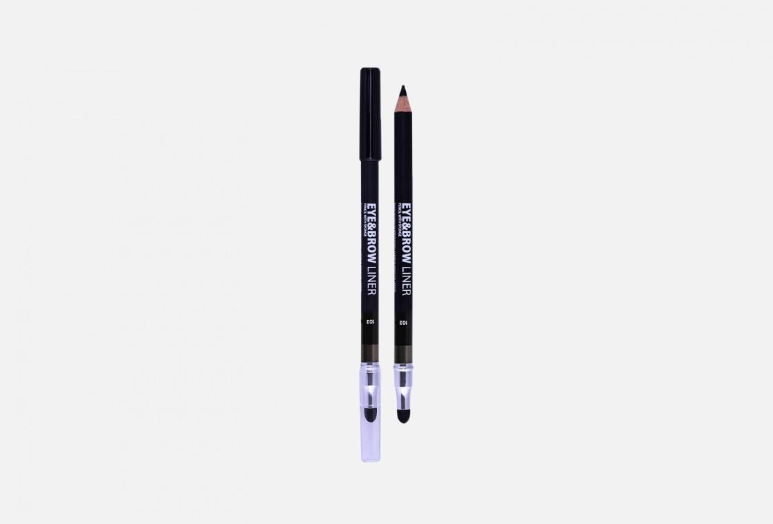 Карандаш для глаз с растушёвкой  Lamel Professional Eye pencil with sponge