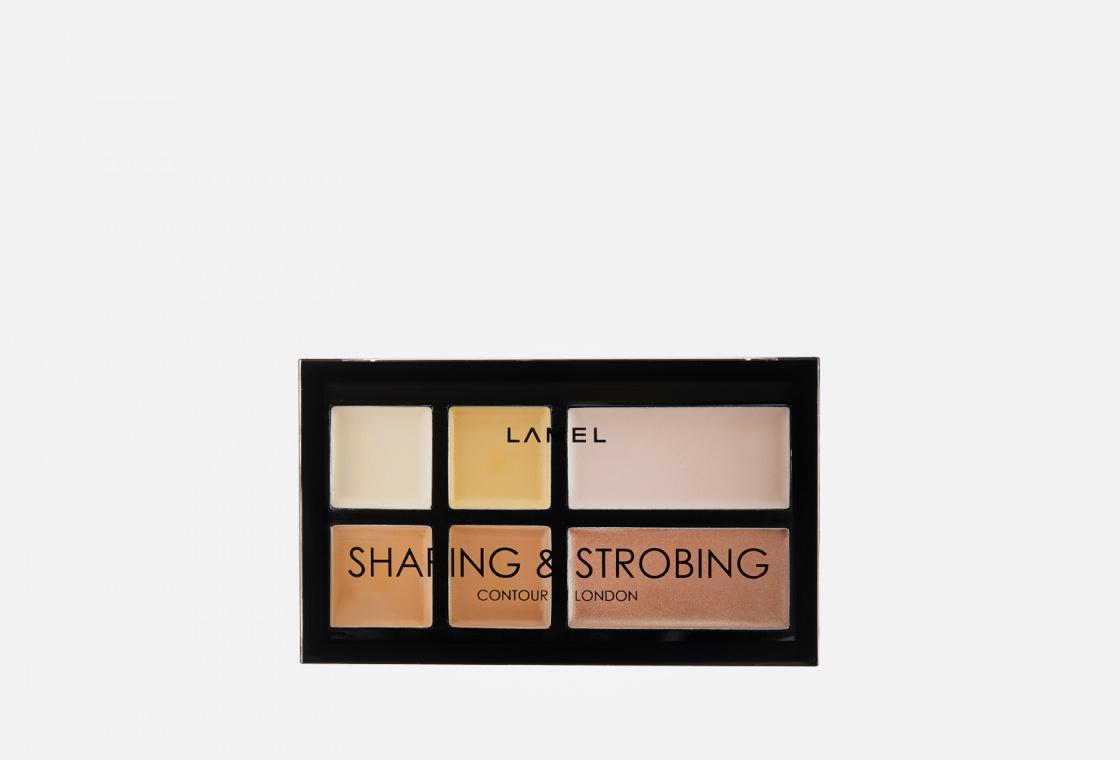 Набор для макияжа:Корректор+хайлайтер  Lamel SHAPING & STROBING