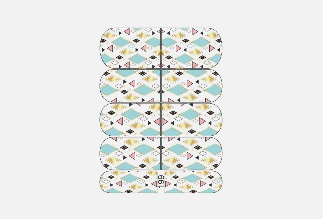 Слайдер-дизайн для ногтей Krimle 199
