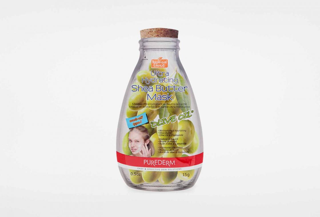Ультра-увлажняющая маска с маслом Ши, Олива Purederm Ultra Hydrating Shea Butter Mask - Coconut