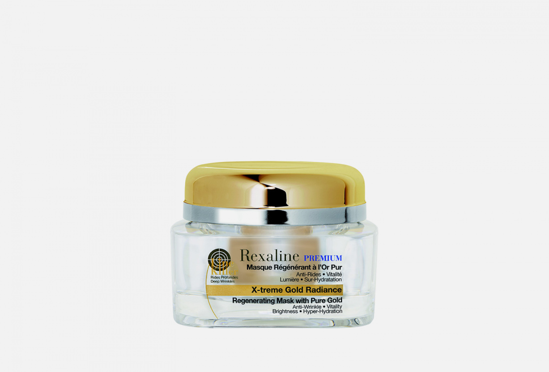 Антивозрастная омолаживающая маска для лица Rexaline Line Killer X-treme Gold Radiance