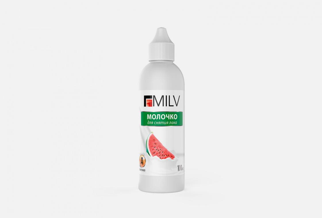 Молочко для снятия лака   Milv Арбуз