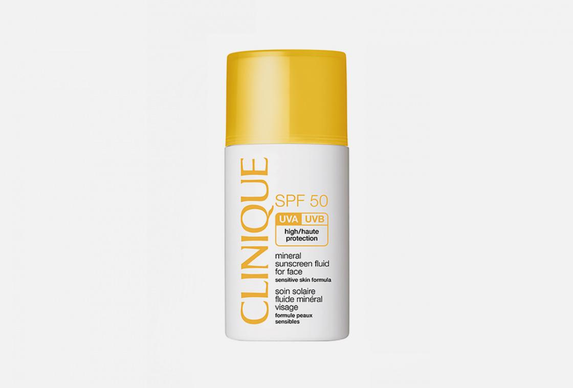 Солнцезащитный минеральный флюид для лица  Clinique Mineral Sunscreen Fluid For Face SPF50
