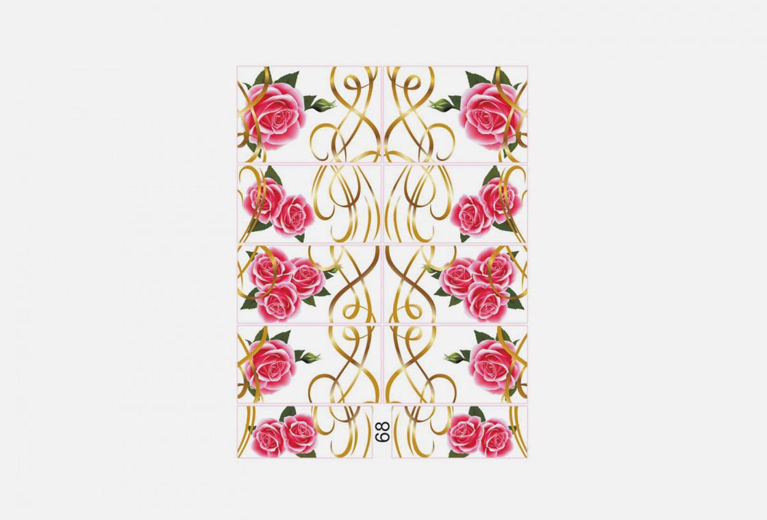 Слайдер-дизайн для ногтей Krimle 68