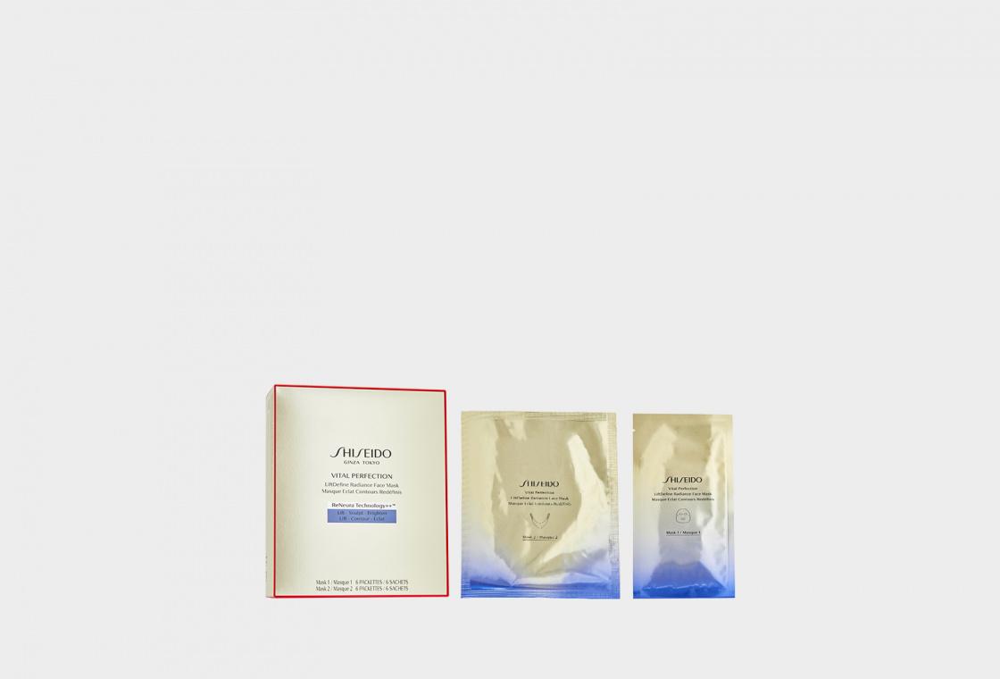 Моделирующая маска для лифтинга и сияния кожи Shiseido VITAL PERFECTION  LIFTDEFINE RADIANCE FACE MASK