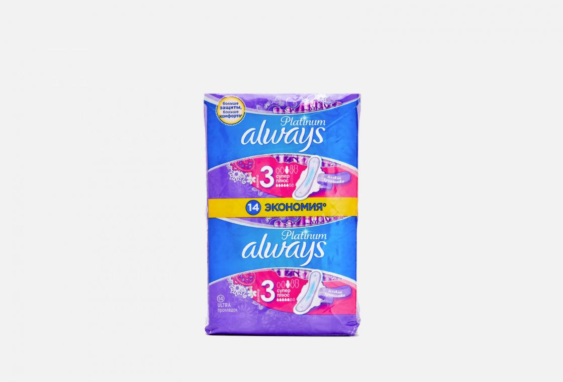 Гигиенические прокладки с крылышками, 14шт. Always Ultra Platinum Collection Super Plus