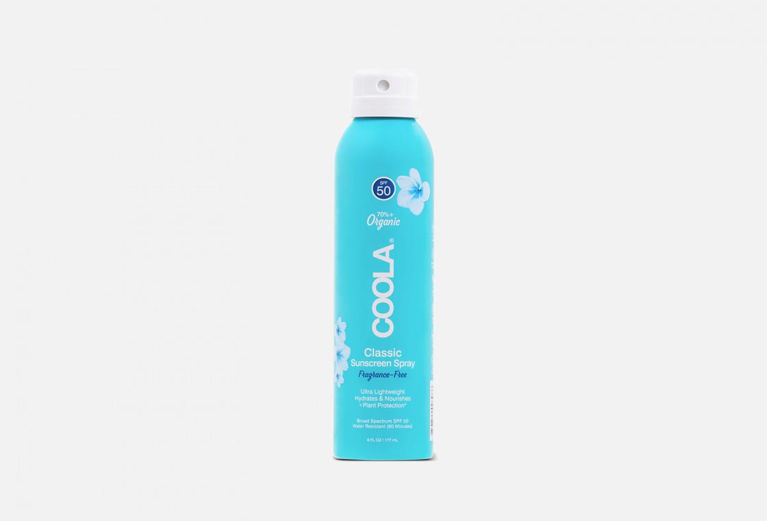 солнцезащитный Спрей для тела SPF50  COOLA без запаха