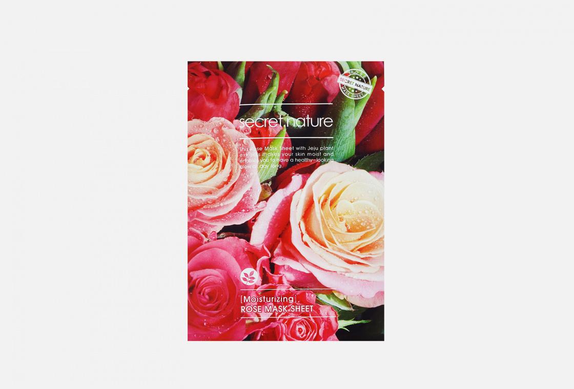 Маска для лица оживляющая SECRET NATURE Moisturizing Rose Mask Sheet
