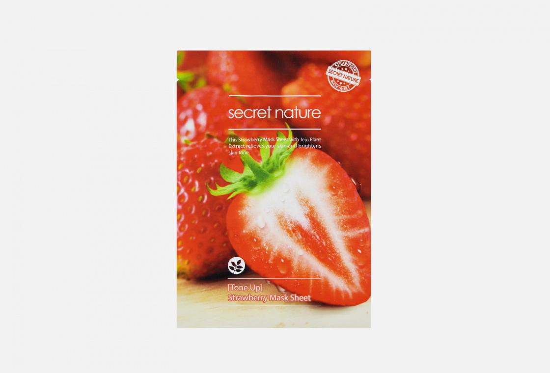 Маска для лица тонизирующая SECRET NATURE Tone Up Strawberry Mask Sheet