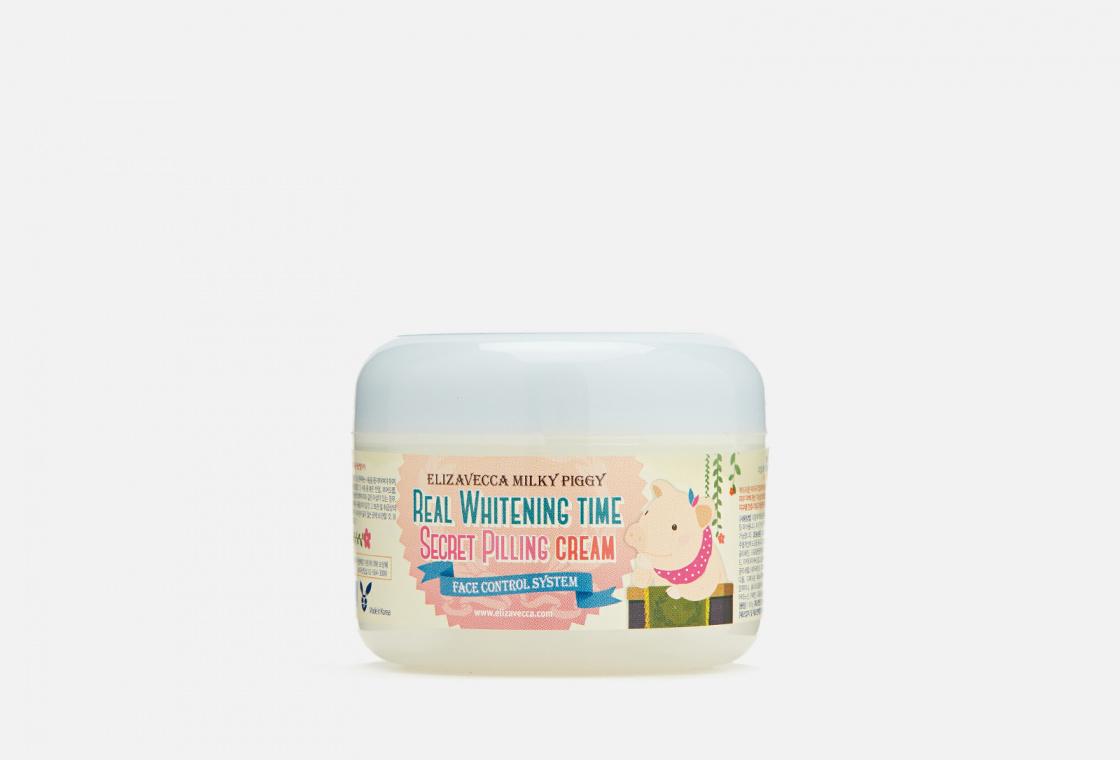 Пилинг-крем для лица осветляющий Elizavecca Milky Piggy Real Whitening Time Secret Pilling Cream