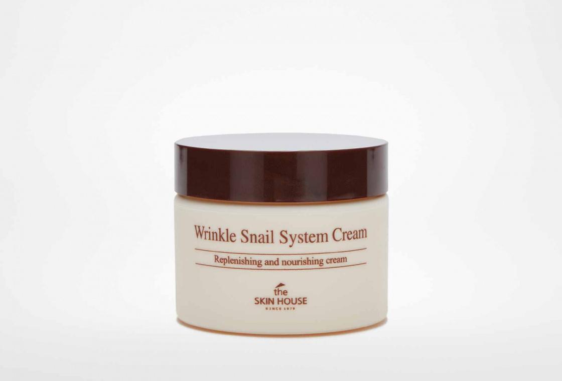 Крем для лица антивозрастной улиточный The Skin House WRINKLE SNAIL SYSTEM CREAM