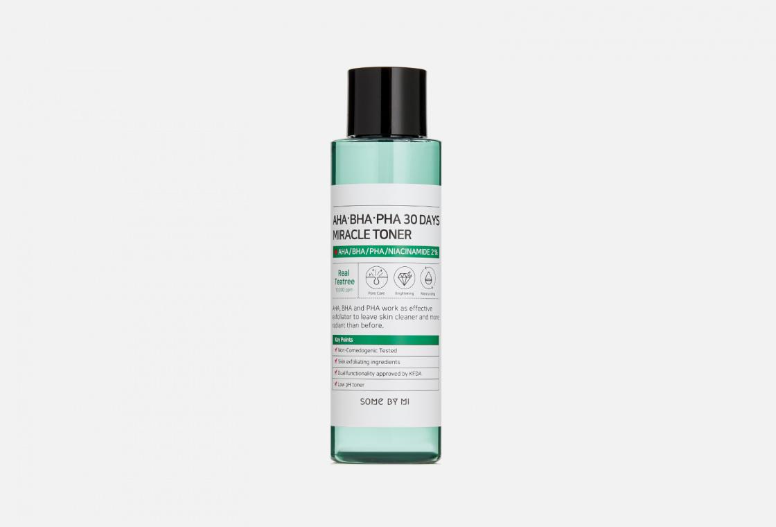 Тонер с AHA/BHA/PHA кислотами для проблемной кожи SOME BY MI AHA-BHA-PHA 30 Days Miracle Toner