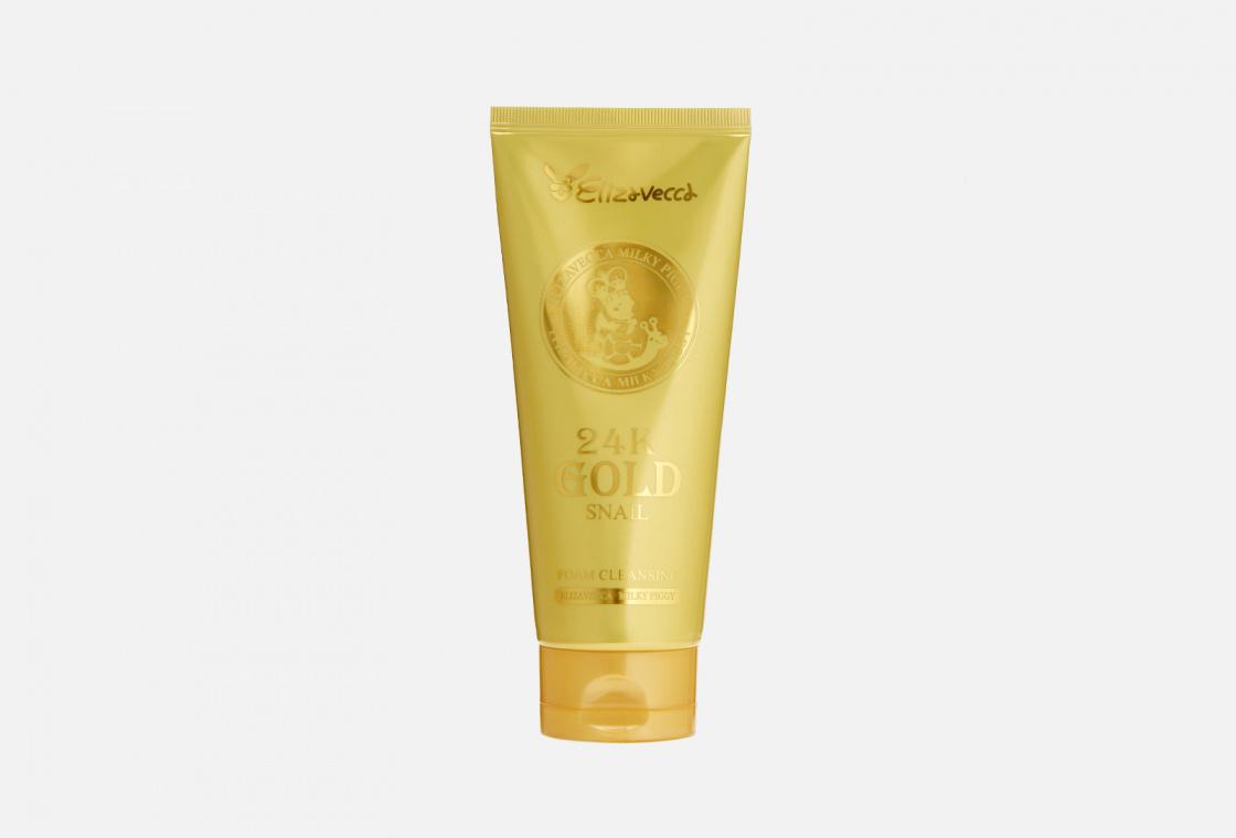 Пенка для лица с улиточным муцином и золотом  Elizavecca 24K Gold Snail