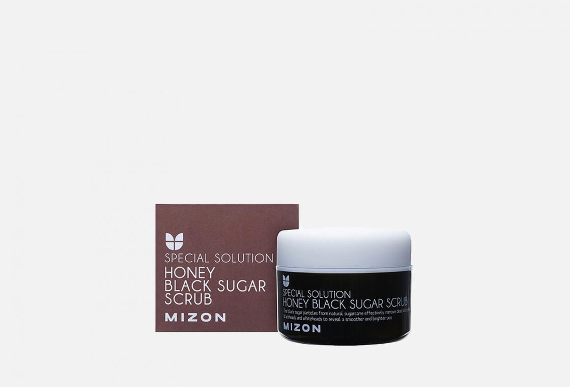 Скраб для лица с черным Барбадосским сахаром  Mizon HONEY BLACK SUGAR SCRUB