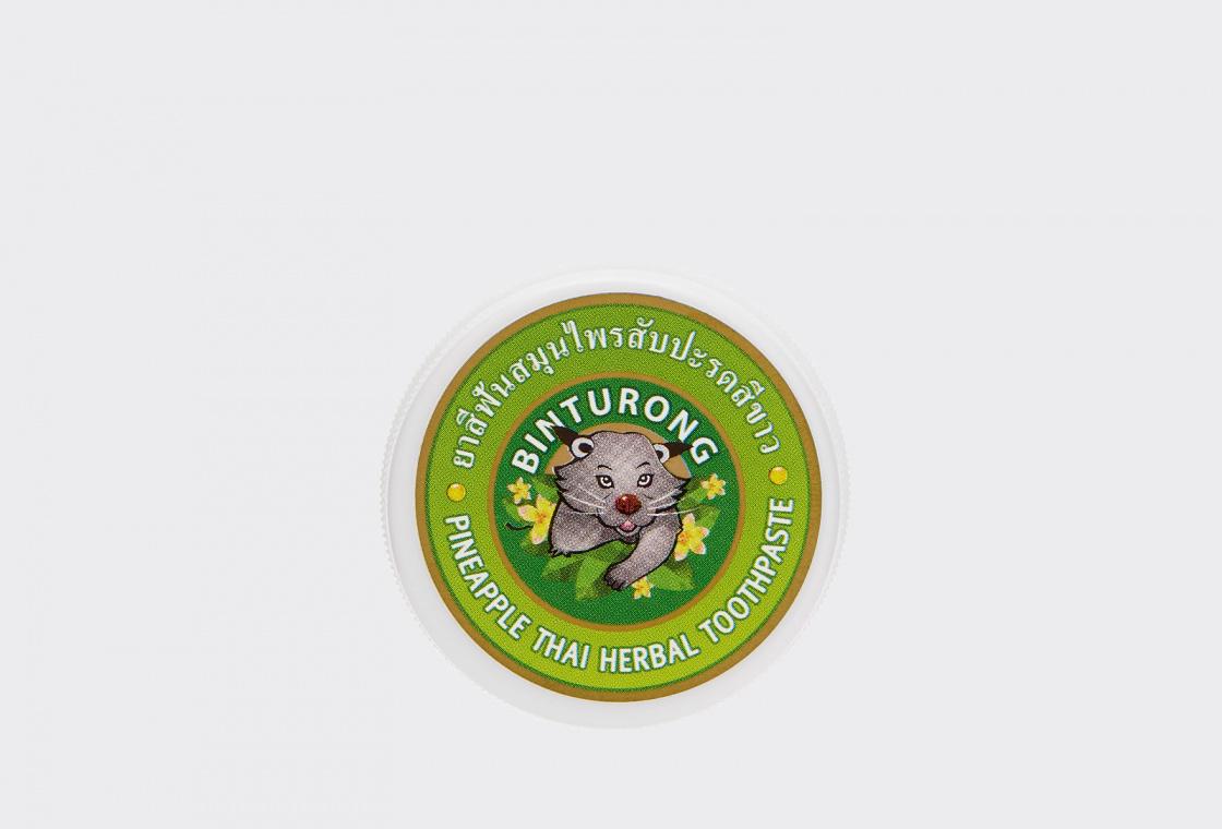 Зубная паста с Экстрактом Ананаса  Binturong Pineapple Thai Herbal Toothpaste