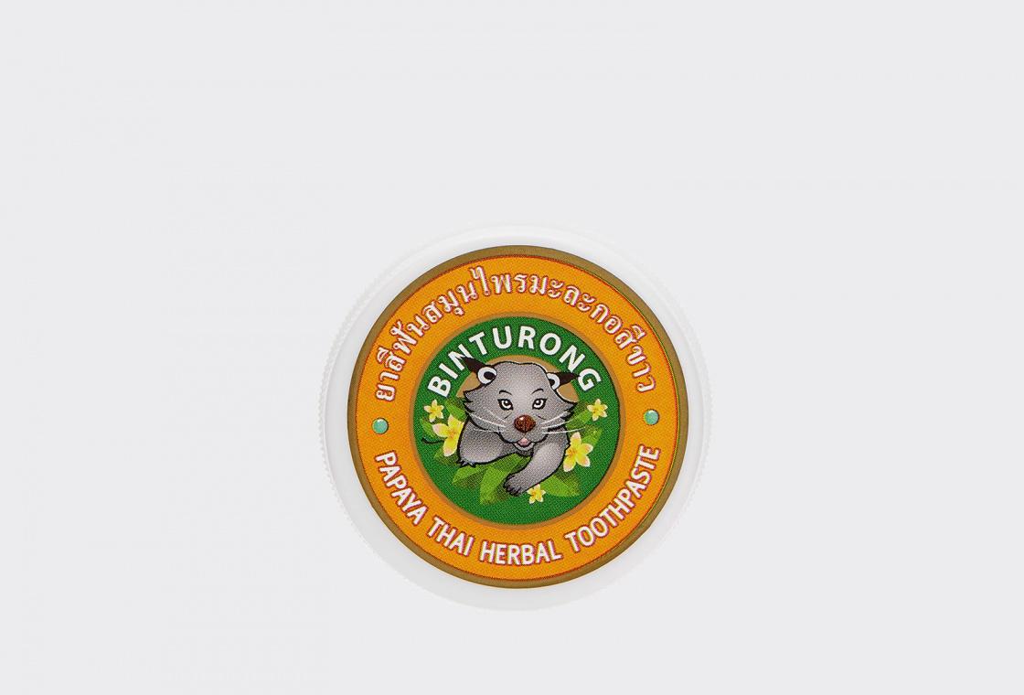 Зубная паста с Экстрактом Папайи  Binturong Papaya Thai Herbal Toothpaste
