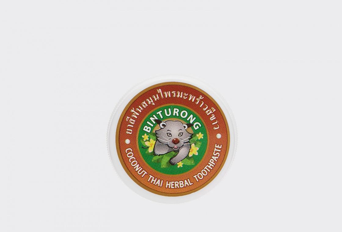 Зубная паста с Кокосовым маслом  Binturong Coconut Thai Herbal Toothpaste