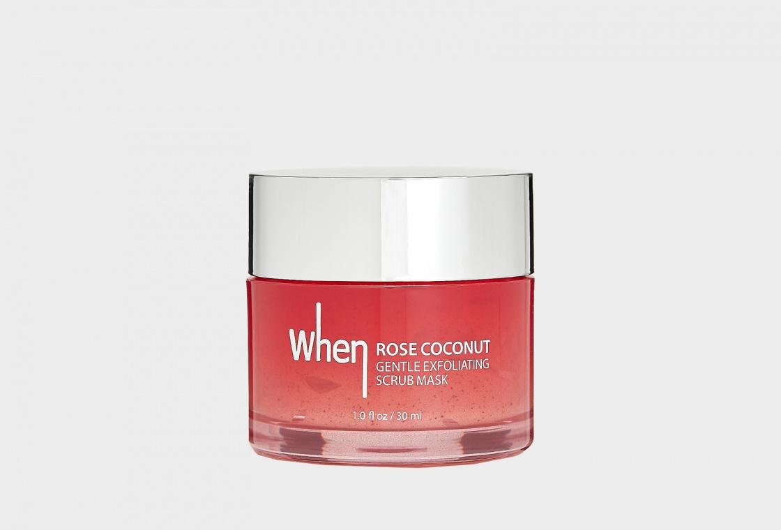 Отшелушивающая маска для лица When Rose Coconut Gentle Exfoliating Scrub Mask