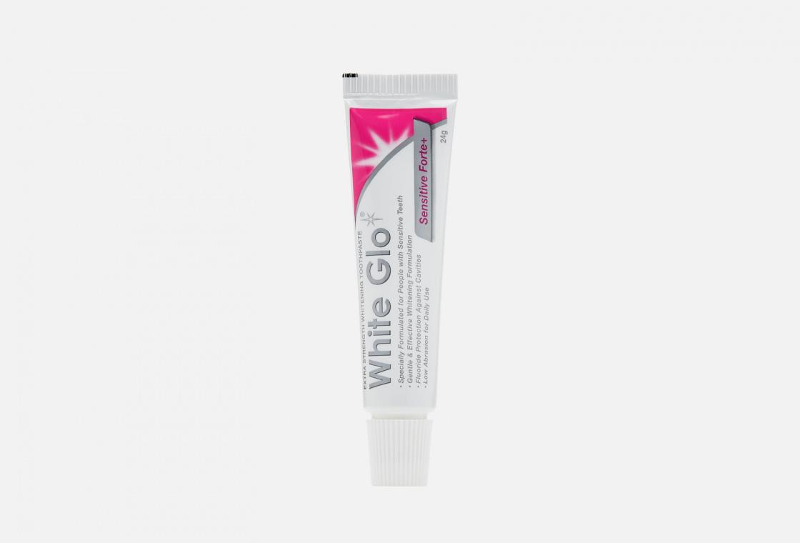 Экстрасильная отбеливающая зубная паста для чувствительных зубов White Glo Sensitive Forte+
