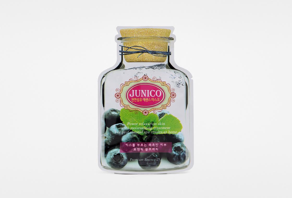 Маска тканевая c экстрактом черники  Mijin Care Junico Blueberry Essence Mask