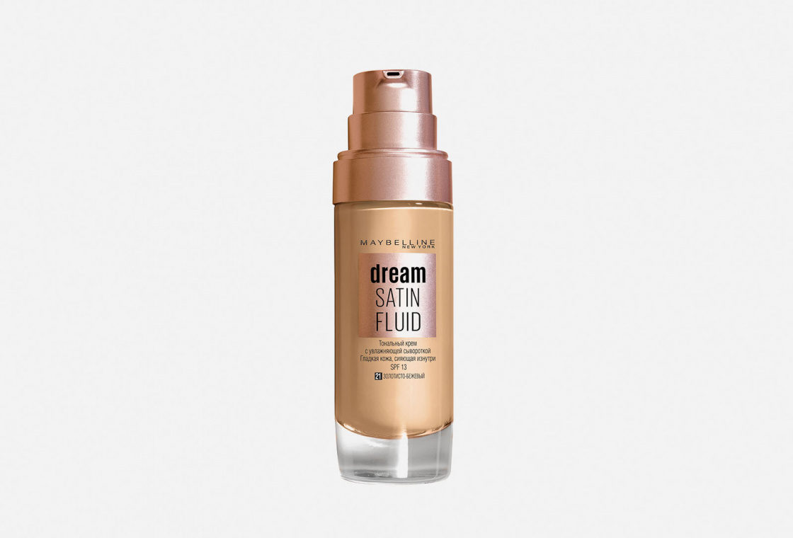 Тональный крем-флюид для лица Maybelline New York DREAM SATIN FLUID