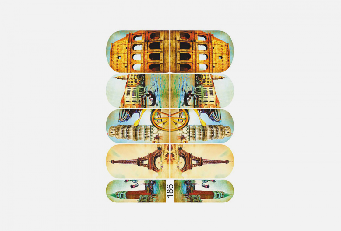 Слайдер-дизайн для ногтей Krimle 186