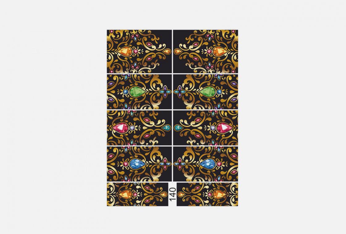 Слайдер-дизайн для ногтей Krimle 140