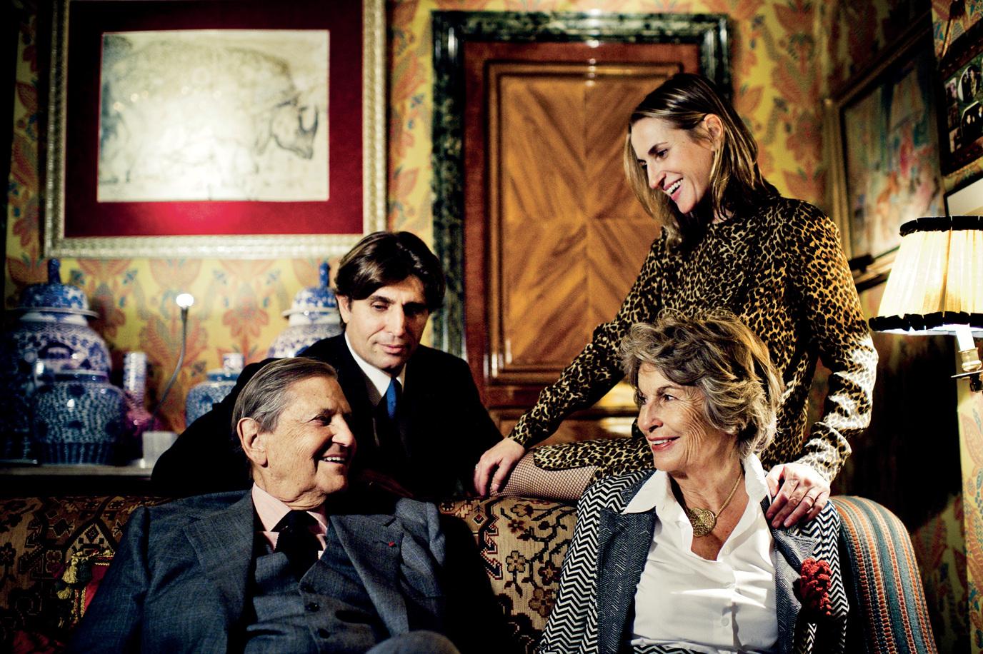 Юбер и Изабель Д'Орнано, и их дети Филипп и Кристин